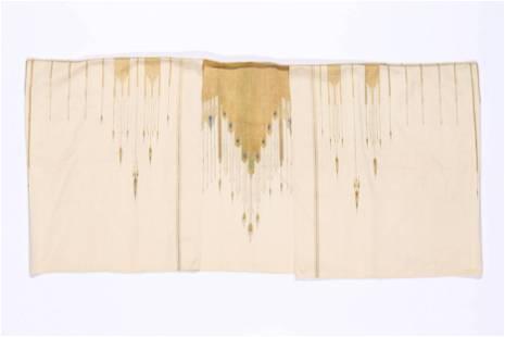 Antique Syrian Silk Aba with Metal Thread