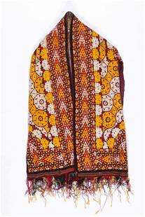 Central Asian Embroidered Chyrpi Wedding Coat/Veil