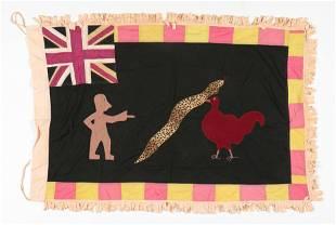 African Tribal Asafo / Fante Folk Flag, Ghana