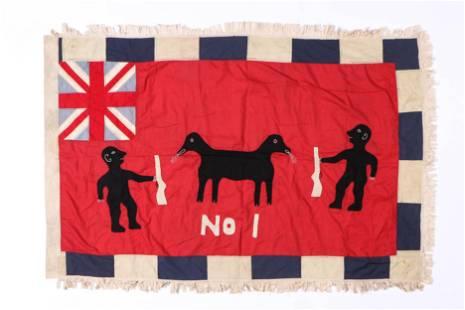 African Tribal Asafo Fante Folk Flag, Ghana