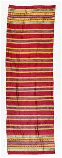 Rare Guatemalan Ceremonial Silk Corte Jaspe Ikat Skirt