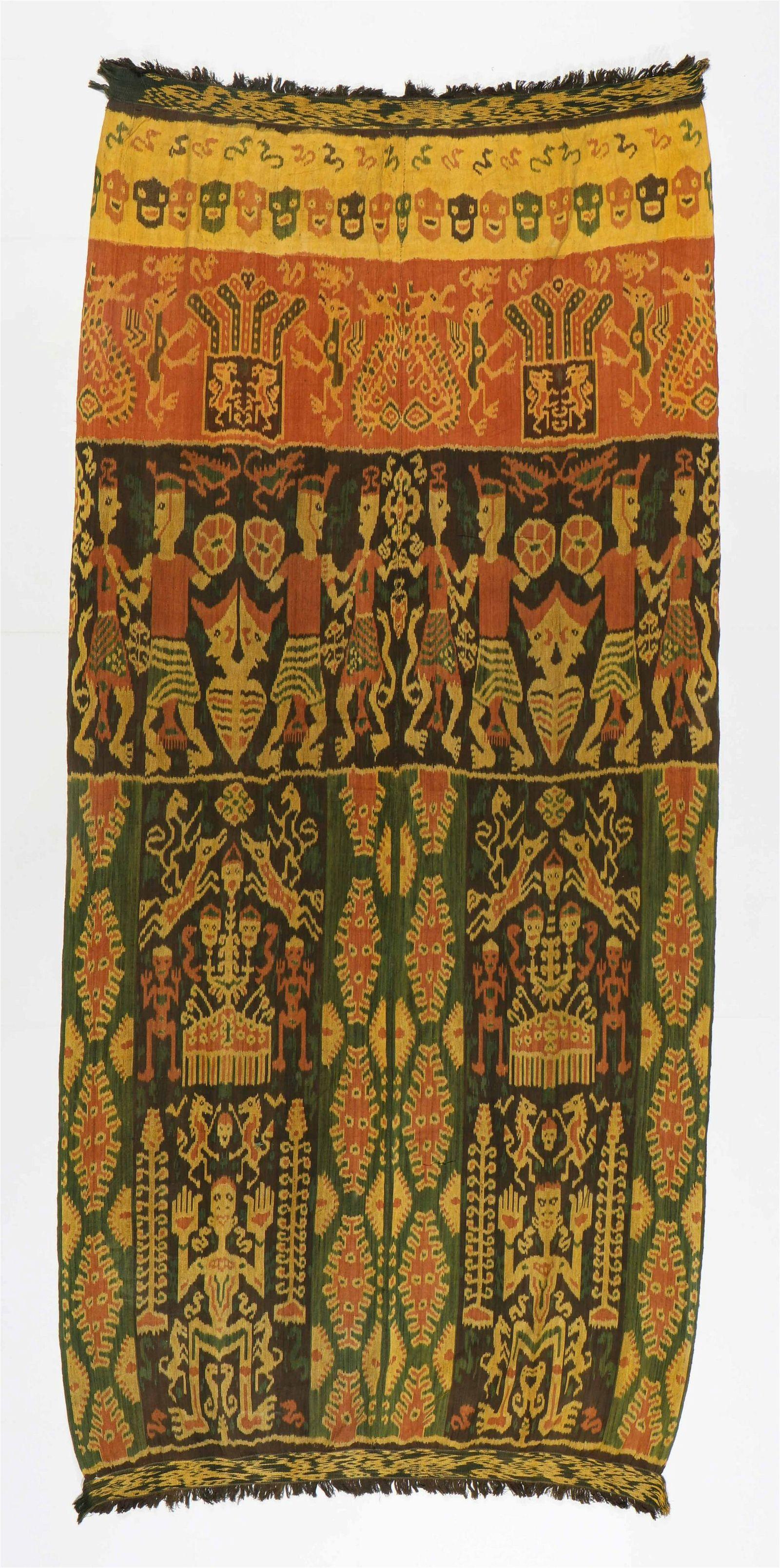 Sumba Cotton Ikat Hingii, Early to Mid 20th C.
