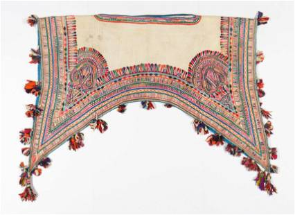Indian Hand-Embroidered Camel Saddle Textile