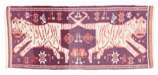 Hill Tribe Double Tiger Woven Textile, Laos / Vietnam
