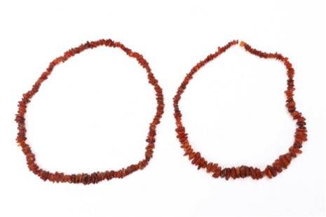 Two Fine Baltic Amber Necklaces