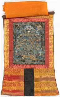 Vintage Tibetan Thangka The Wheel of Life