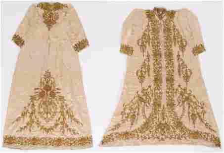 Ottoman Turkish Silk and Metal Thread Embroidered Robe