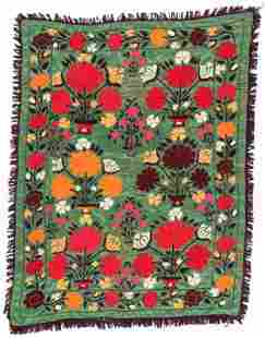Central Asian Uzbek Suzani, Mid-late 20th C.