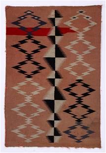 Navajo Germantown Blanket, Late 19th C., 2'5'' x 3'6''