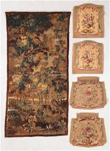 Five Antique Flemish & French Tapestries