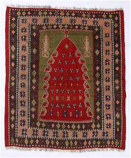 Erzurum Prayer Kilim, Turkey, 19th C., 5'3'' x 6'1''