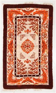 Spanish Arts & Crafts Rug, Early 20th C., 3'8'' x 6'3''