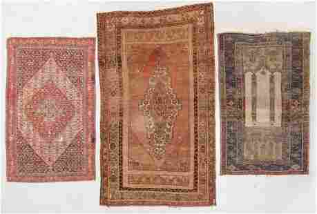 Three Antique Estate Rugs