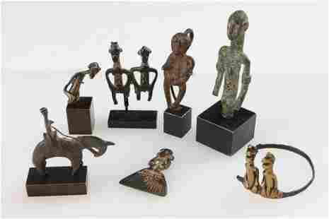 Collection of Antique Metal Amulets, West Africa