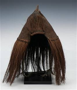 Large Antique Japanese Fiber Rain Hat