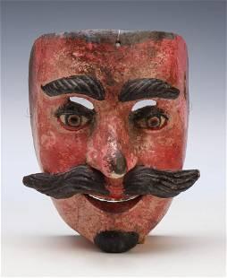 Mexican Santiago Dance Mask, Puebla