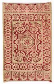 17th C. Ottoman Silk Velvet & Metal Thread Woven Catma,
