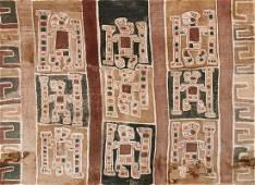 Large Early Wari Painted Textile, Peru, 700-1000 CE,