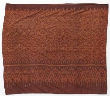 Cambodian Silk Ikat Sarong, Early -Mid 20th C.