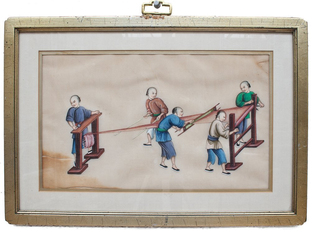 2: Six Framed 19th Century Chinese Pith Paper Paintings