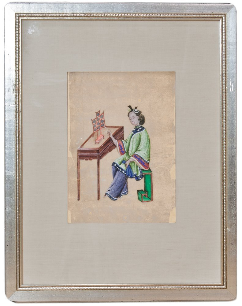 2: Six Framed 19th Century Chinese Pith Paper Paintings - 2