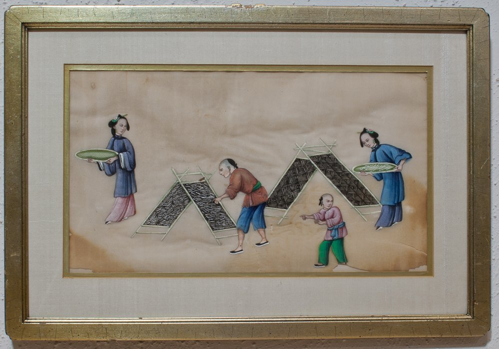 2: Six Framed 19th Century Chinese Pith Paper Paintings - 3