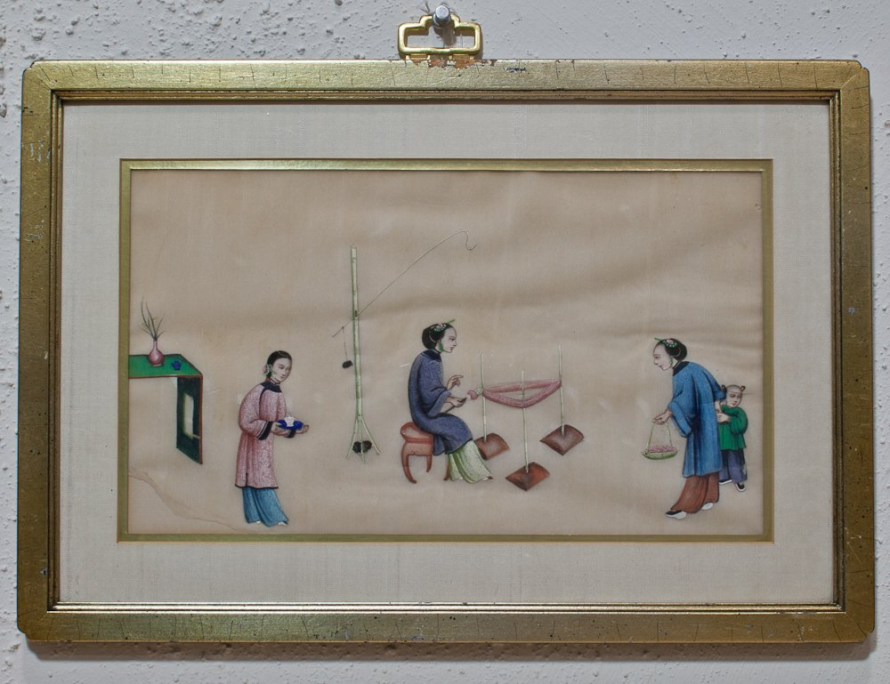 2: Six Framed 19th Century Chinese Pith Paper Paintings - 4