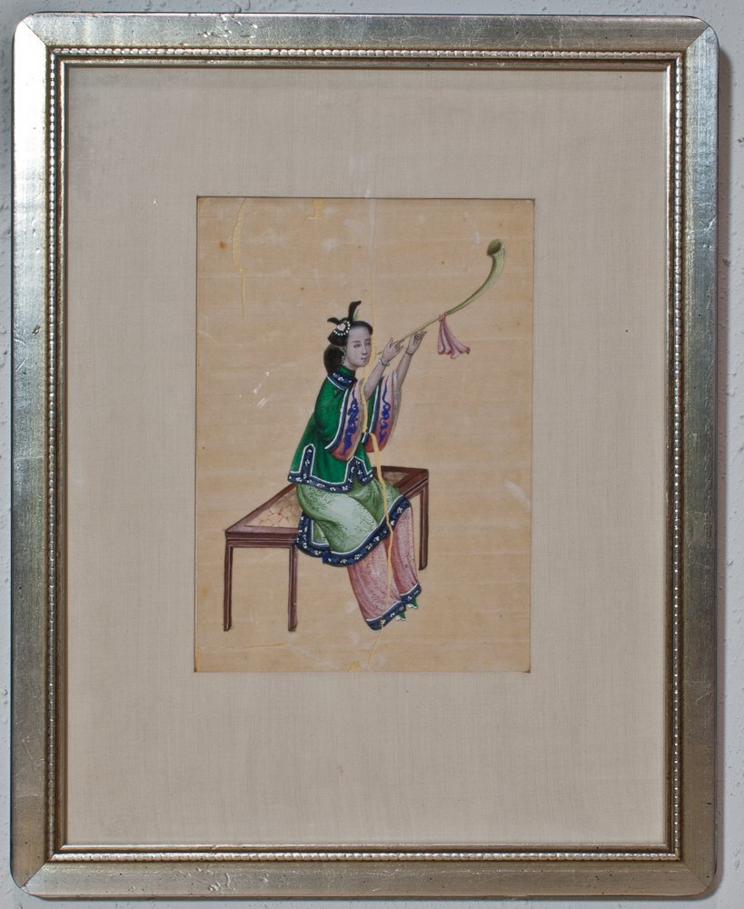 2: Six Framed 19th Century Chinese Pith Paper Paintings - 6