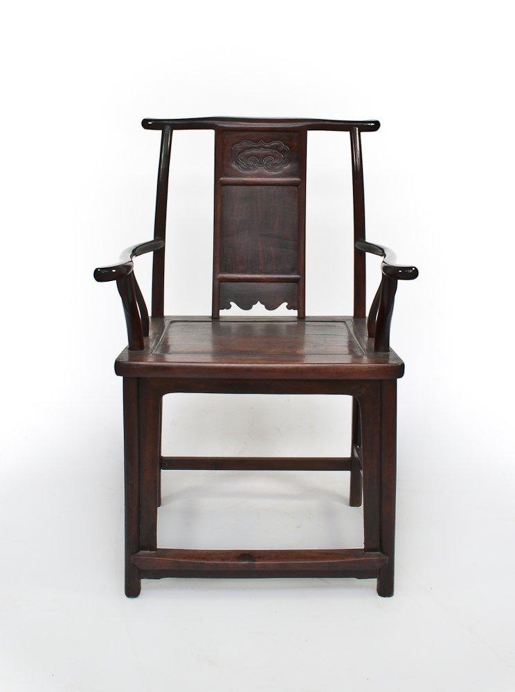 8: A Hardwood Yoke-back Chair