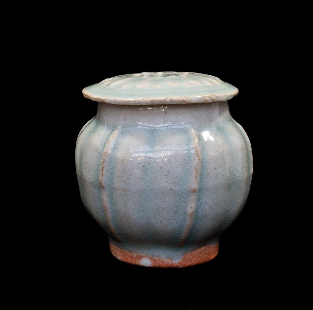 12: Antique Covered Jar