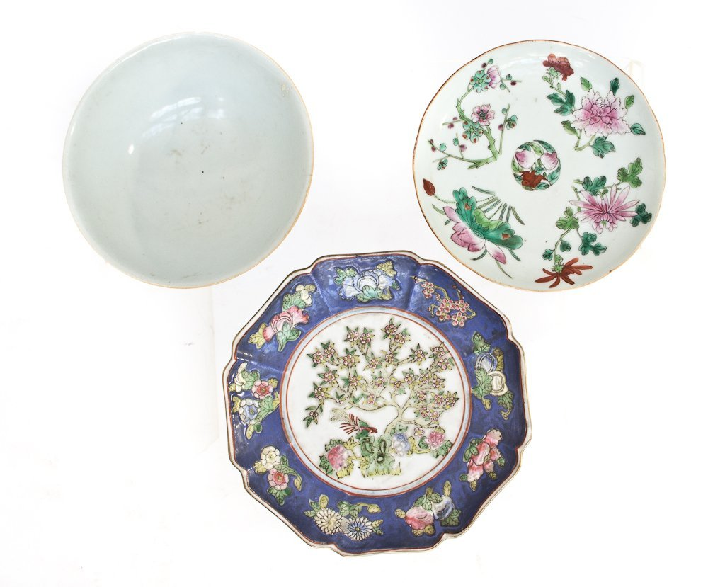 80: Three Antique Porcelain Plates