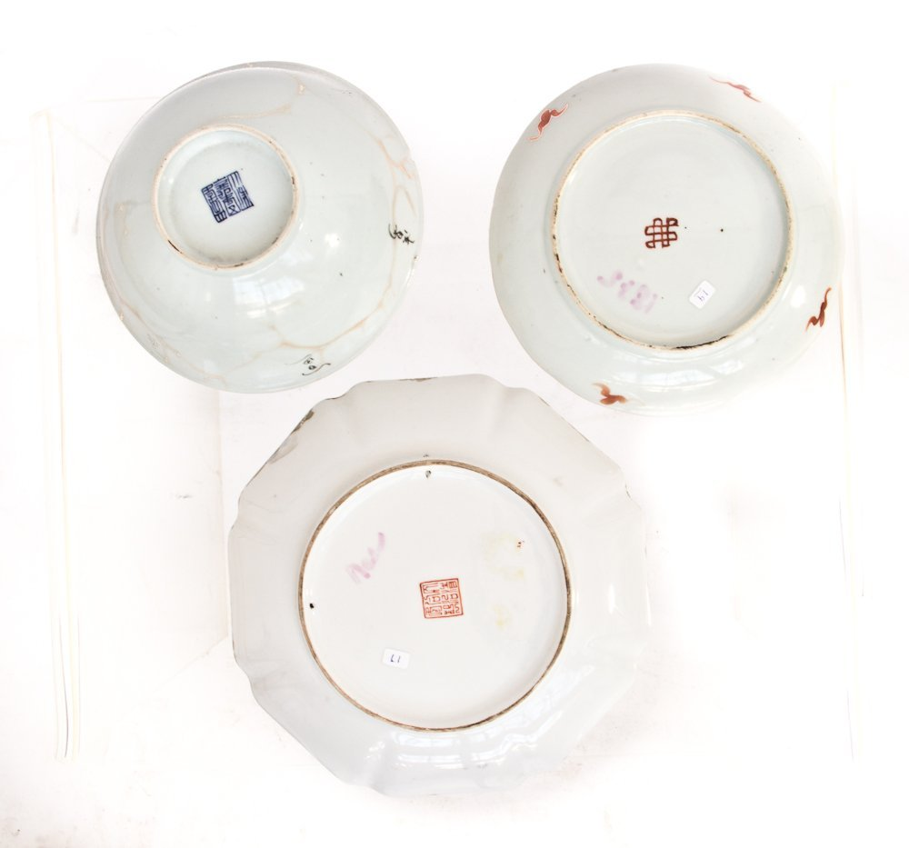 80: Three Antique Porcelain Plates - 2