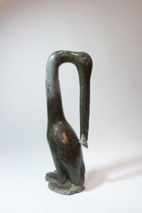 Carved Stone Shona Sculpture (Bird)