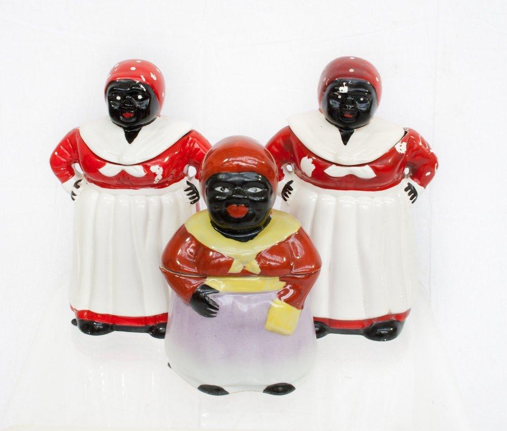 196: Three Vintage Aunt Jemima Ceramic Cookie Jars