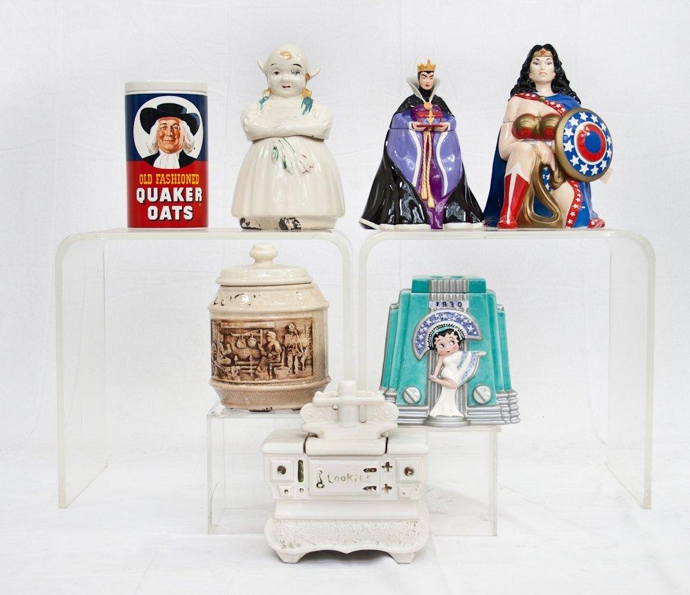 197: Collection of Seven Vintage Ceramic Cookie Jars