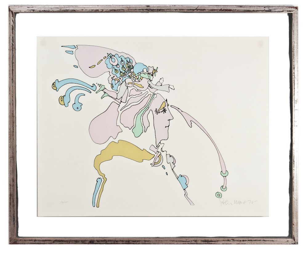 207: Rare Early Peter Max Serigraph on Paper