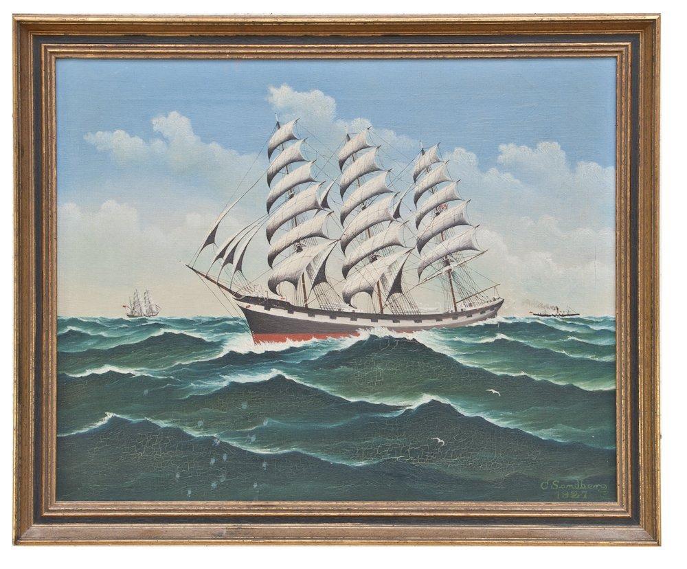 250: C Sandberg Ship Painting