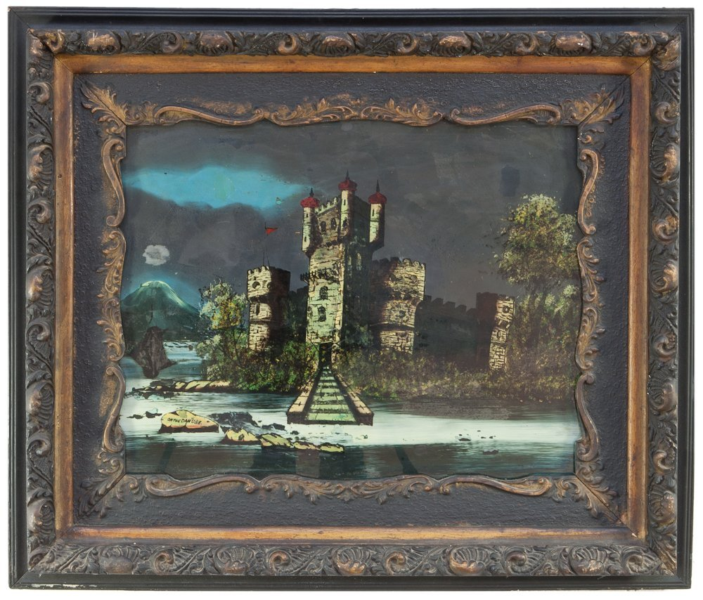258: A 19th Century Reverse Painted Glass Image