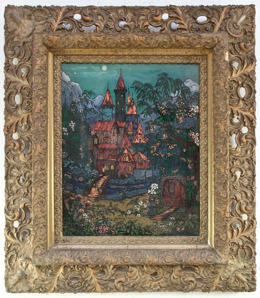 259: A 19th Century Reverse Painted Glass Image
