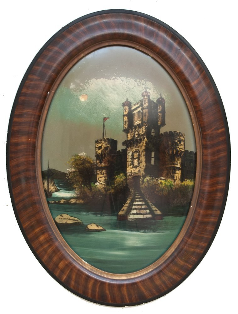 260: A 19th Century Reverse Painted Glass Image