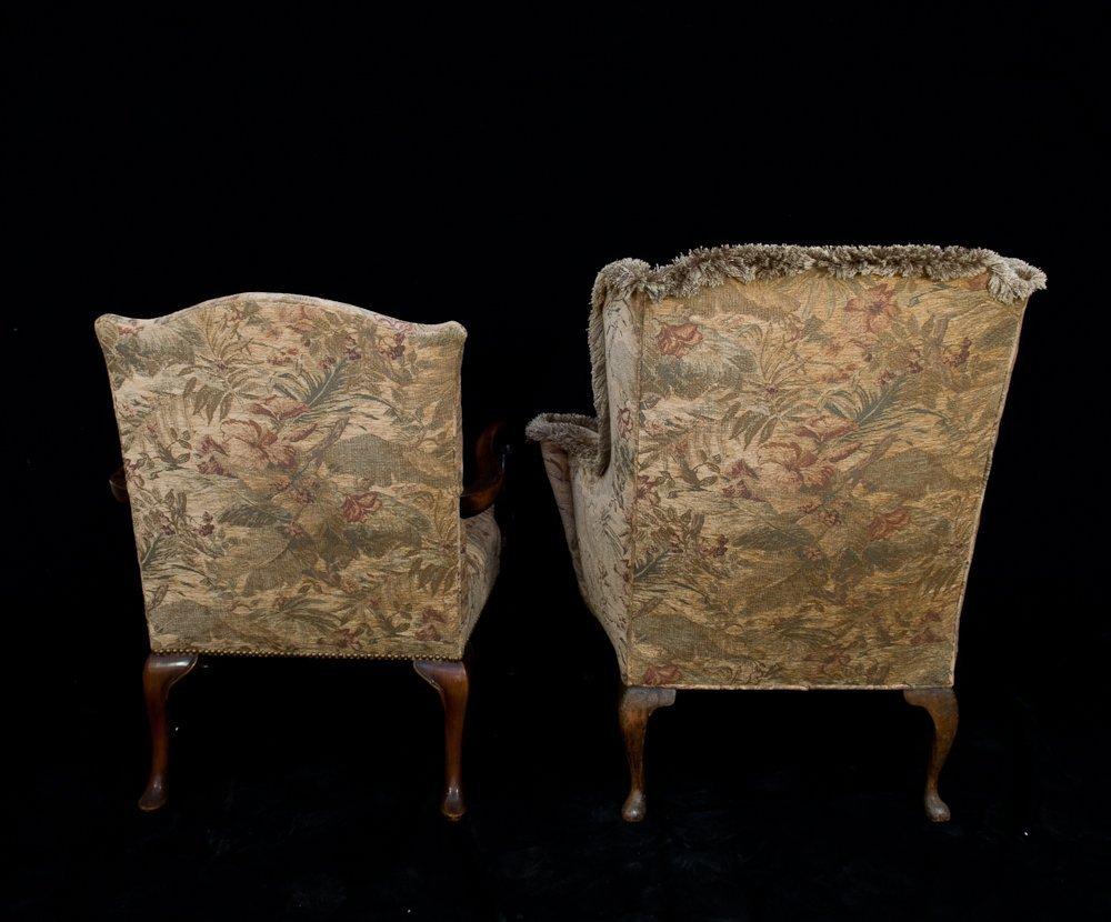 295: Queen Ann Style Wing Chair & Armchair - 3
