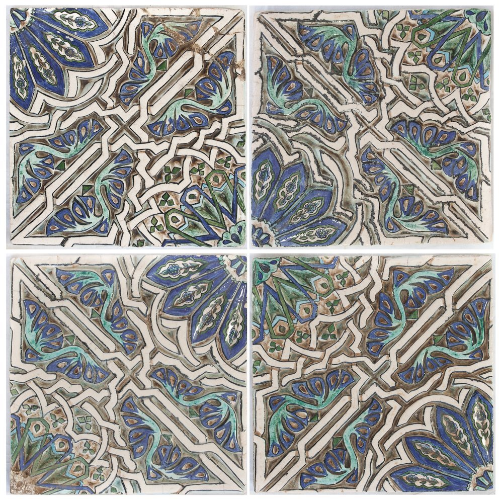 326: A Set of Four Middle Eastern Tiles