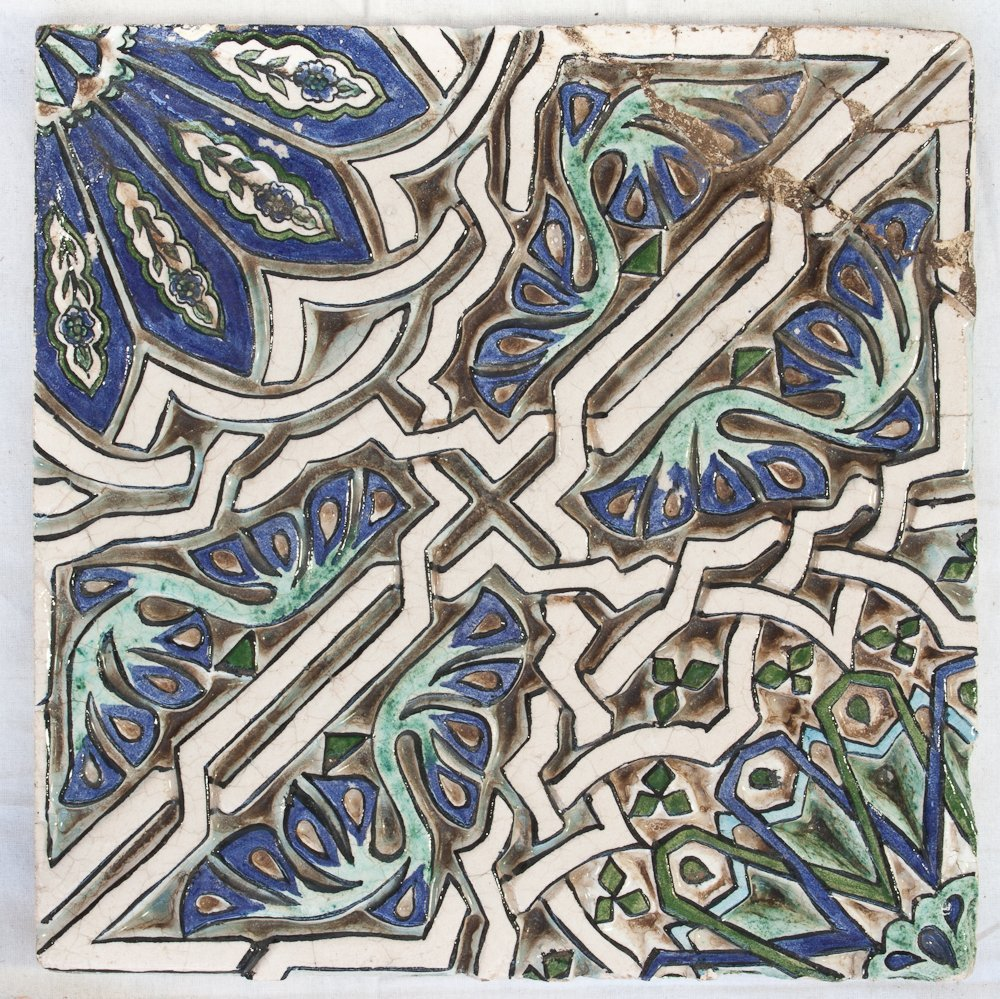326: A Set of Four Middle Eastern Tiles - 2