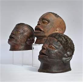 Three Makonde Helmet Masks