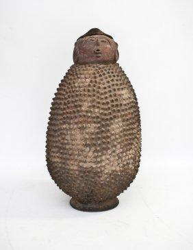 African Anthropomorphic Earthenware Vessel