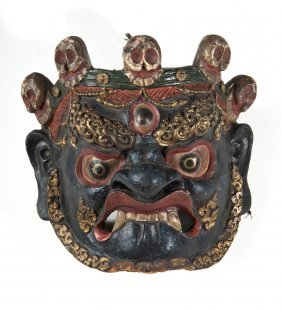 Dharmapala (Wrathful Deity) Dance Mask