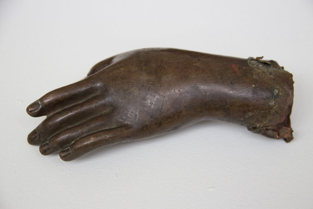 Cast Copper Hand