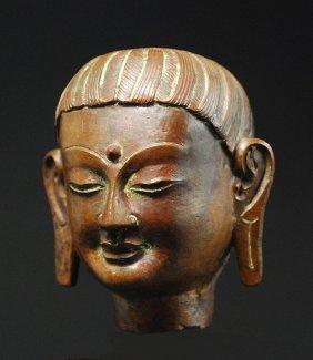Cast Bronze Budhisativa Head