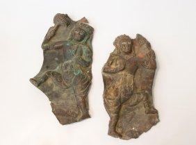 Pair of Repousse Dancing Figures