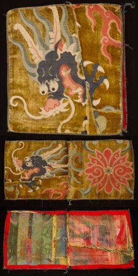 Ming Silk Velvet Dragon Textile